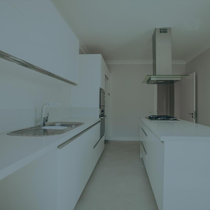 Køkken rengjort af rengøringsfirma i København