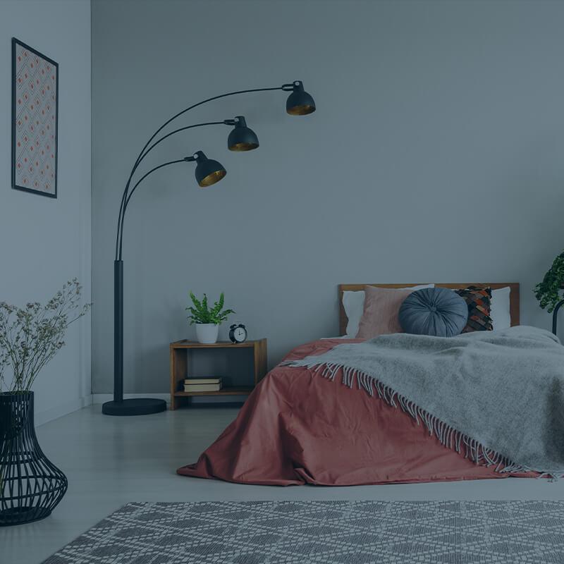 Soveværelse gjort rent af et rengøringsfirma i København